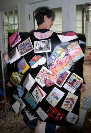 My Birthday Card Poncho - back