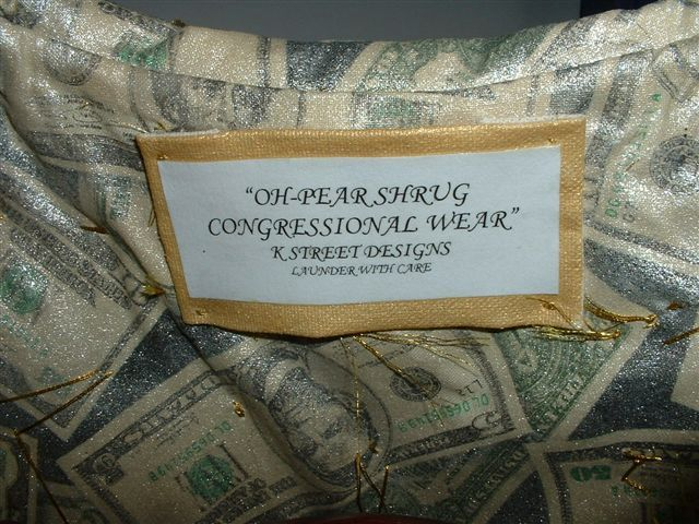 Oh Pear Shrug, Congressional Wear by K Street Design, Launder with Care